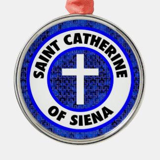 Saint Catherine of Siena Metal Ornament