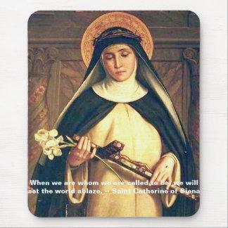 Saint Catherine of Siena Mousepad