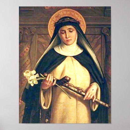 saint catherine of siena poster zazzle com