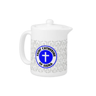 Saint Catherine of Siena Teapot