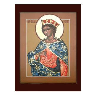 Saint Catherine Prayer Card Postcards