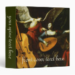 Saint Cecilia and the Angel by Carlo Saraceni 3 Ring Binder