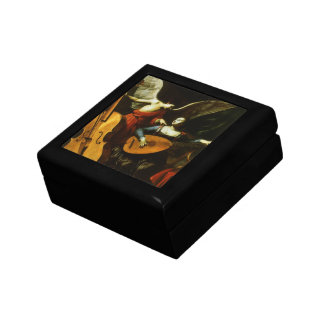Saint Cecilia and the Angel by Carlo Saraceni Trinket Boxes