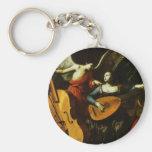 Saint Cecilia and the Angel by Carlo Saraceni Keychains