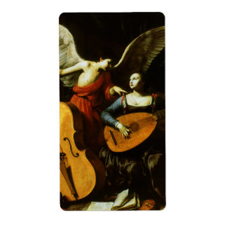 Saint Cecilia and the Angel by Carlo Saraceni Shipping Label