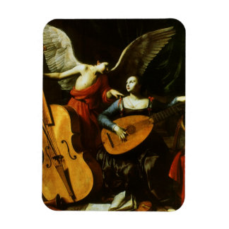 Saint Cecilia and the Angel by Carlo Saraceni Magnet