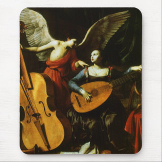 Saint Cecilia and the Angel by Carlo Saraceni Mouse Pad