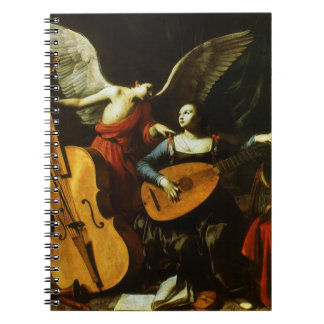 Saint Cecilia and the Angel by Carlo Saraceni Notebook