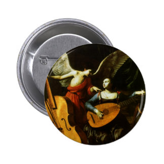 Saint Cecilia and the Angel by Carlo Saraceni Pinback Button