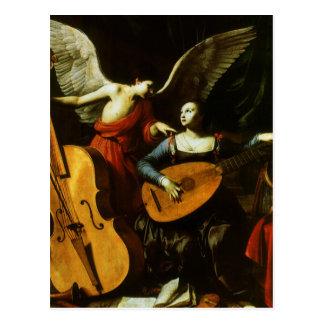 Saint Cecilia and the Angel by Carlo Saraceni Postcards