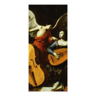 Saint Cecilia and the Angel by Carlo Saraceni Rack Card