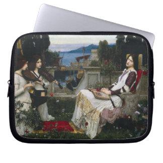 Saint Cecilia in the Garden Laptop Sleeve