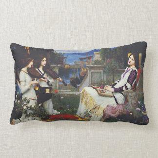 Saint Cecilia in the Garden Lumbar Pillow