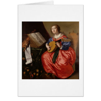 Saint Cecilia (oil on canvas) Greeting Card