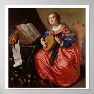 Saint Cecilia (oil on canvas) Poster