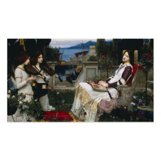 Saint Cecilia Serenaded by Angels with Violins Business Card