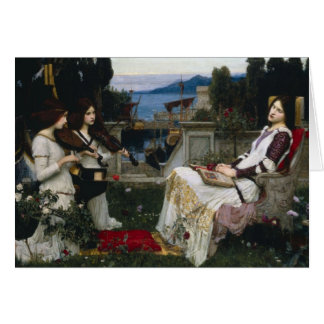 Saint Cecilia Serenaded by Angels with Violins Card