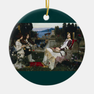 Saint Cecilia Serenaded by Angels with Violins Ceramic Ornament