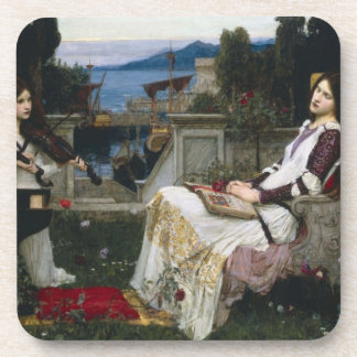 Saint Cecilia Serenaded by Angels with Violins Coaster
