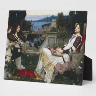 Saint Cecilia Serenaded by Angels with Violins Plaques