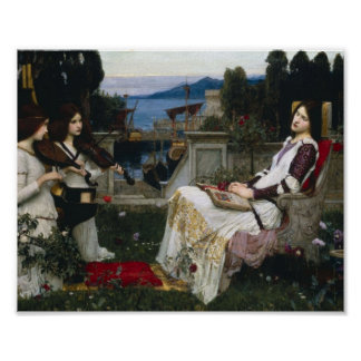 Saint Cecilia Serenaded by Angels with Violins Poster