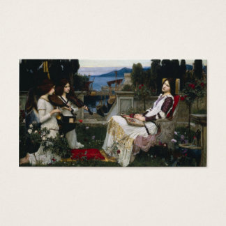 Saint Cecilia Sitting in the Garden Business Card
