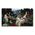 Saint Cecilia Sitting in the Garden Business Cards