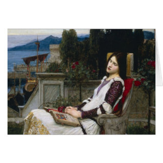 Saint Cecilia Sitting in the Garden Card