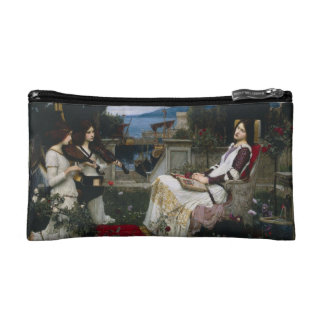 Saint Cecilia Sitting in the Garden Makeup Bag