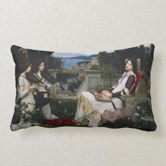 Saint Cecilia Sitting in the Garden Pillow