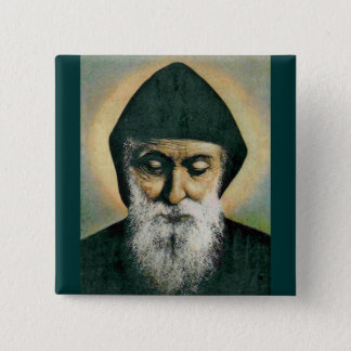 Saint Charbel Portrait Button
