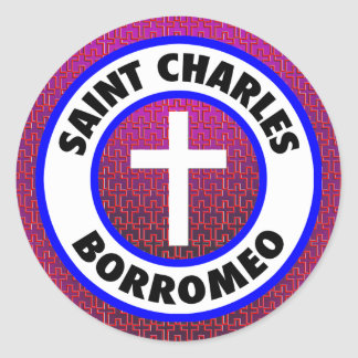 Saint Charles Borromeo Classic Round Sticker