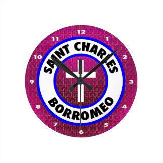 Saint Charles Borromeo Round Clock
