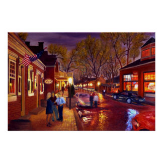 Saint Charles Cityscape Oil Landscape Painting Print