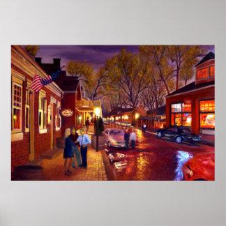 Saint Charles Cityscape Oil Landscape Painting Poster