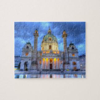 Saint Charles's Church in Vienna, Austria Jigsaw Puzzle