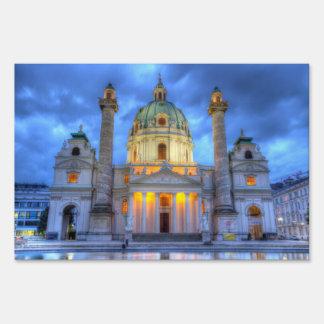 Saint Charles's Church in Vienna, Austria Sign