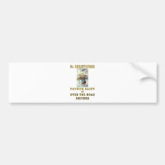 SAINT CHRISTOPHER BUMPER STICKER