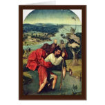 Saint Christopher. By Hieronymus Bosch (Best Quali Greeting Card