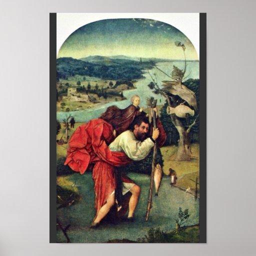 Saint Christopher. By Hieronymus Bosch (Best Quali Poster