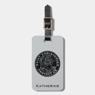 Saint Christopher Medal Bag Tag