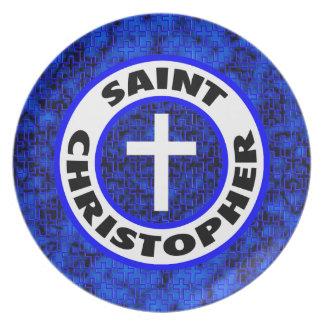 Saint Christopher Melamine Plate