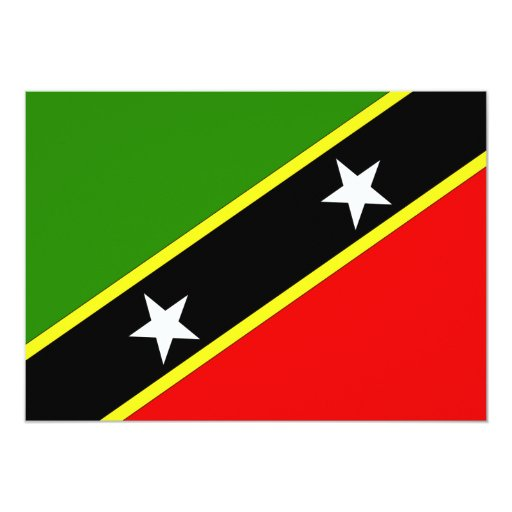 Saint Christopher Nevis Flag 5x7 Paper Invitation Card