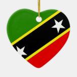 Saint Christopher Nevis Double-Sided Heart Ceramic Christmas Ornament