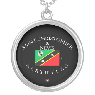 SAINT CHRISTOPHER & NEVIS SILVER PLATED NECKLACE