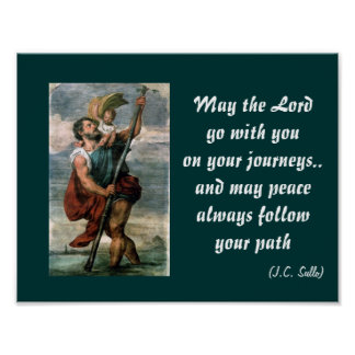 saint christopher poster