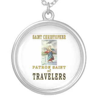 SAINT CHRISTOPHER SILVER PLATED NECKLACE