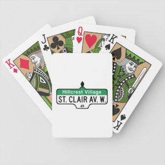 Saint Clair Avenue, Toronto Street Sign Bicycle Card Decks