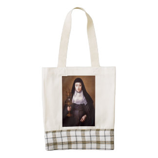 saint clare of assisi zazzle HEART tote bag