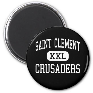 Saint Clement - Crusaders - Catholic - Center Line 2 Inch Round Magnet